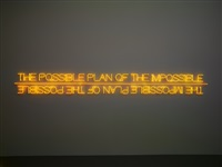 the possible plan of the impossible / the impossible plan of the possible by maurizio nannucci