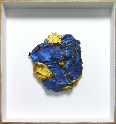 europäischer kopf blau/gold by bernd schwarzer