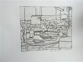 #2 from 41 etchings and drypoints by richard diebenkorn