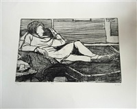 #4 from 41 etchings and drypoints by richard diebenkorn