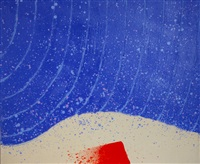 tensione rosso in blu by hsiao chin
