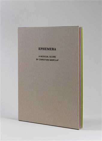 ephemera by christian marclay