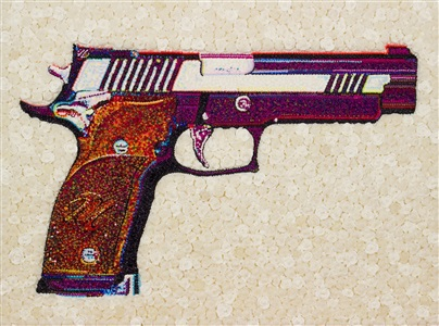 the gun in roses sigp226 by lisa alonzo