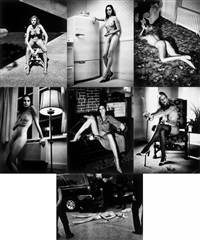 cyberwoman series (suite of 7 photographs) by helmut newton
