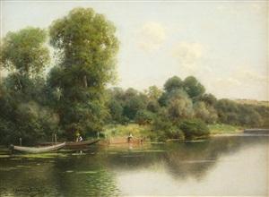a quiet stretch of the river by emilio sanchez-perrier