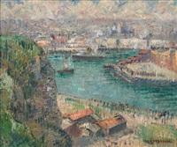 le port de dieppe by gustave loiseau