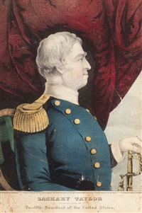 zachery taylor, the nation's choice for twelfth president of the united states by nathaniel currier