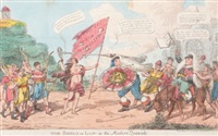 the shield of law or the modern quixote by george cruikshank