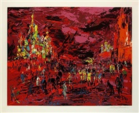 red square by leroy neiman