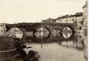périgueux, pont dur l'isle et lavandiéres by edouard-denis baldus