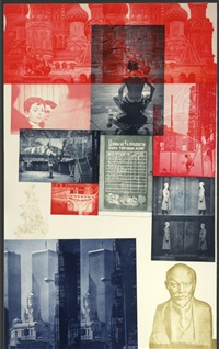 soviet / american array l by robert rauschenberg