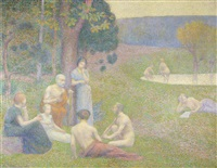mythological scene en arcadia by hippolyte petitjean