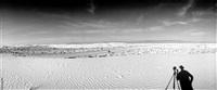 white sands, self-portrait by jan w. faul