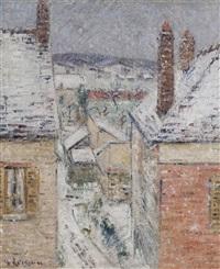 maisons en normandie, hiver by gustave loiseau