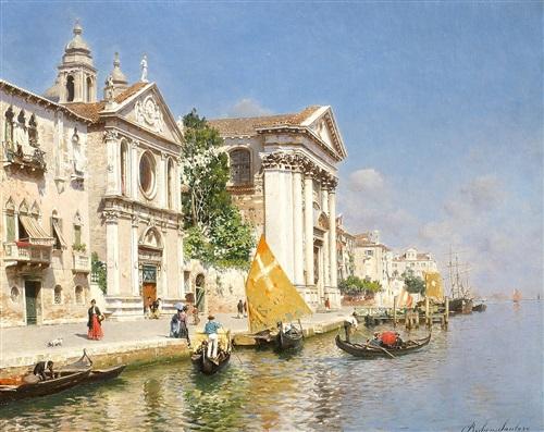 the zattere and church of the gesuati, venice by rubens santoro