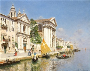 the zattere and church of the gesuati, venice by rubens santoro