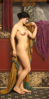 in the tepidarium by john william godward