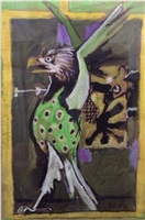 study for the eagle of st john, coventry cathedral tapestry by graham sutherland