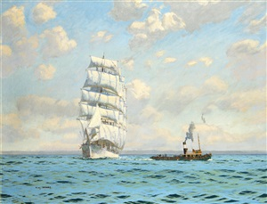 casting off the tow line by charles pears