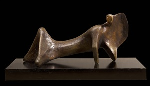 reclining figure: cloak by henry moore