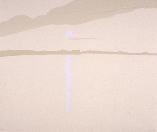 sunset: lake wesserunsett iv by alex katz