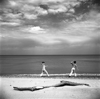 wilmette, illinois (two boys on beach) by vivian maier