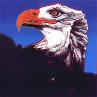 bald eagle , from the endangered species portfolio by andy warhol