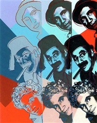 marx brothers , ten portraits of jews in the twentieth century by andy warhol