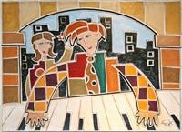 polka dot piano man by eric waugh