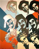 marx bros, from jews of the 20th centrury by andy warhol