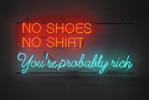 no shoes, no shirt, you're probably rich by alejandro diaz