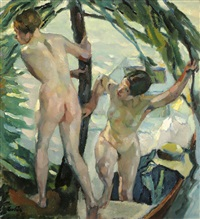 on the shore by leo putz