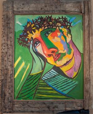 christus (elogio del dolore 1994) by sandro chia