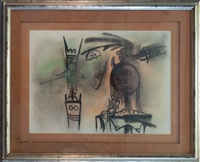 abstrakte komposition by wifredo lam