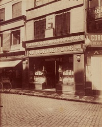 rue des lombards, paris by eugène atget