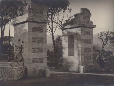 max ernst at the entrance to château de clavary by man ray