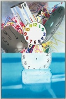 the memory continues but the clock disappears by james rosenquist