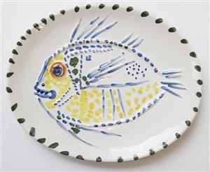 poisson fond blanc by pablo picasso
