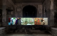 mumbai: a laundry field (installation view, johanniterkirche feldkirch) by kimsooja