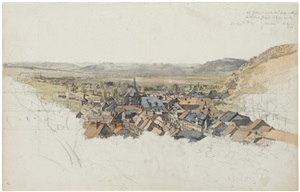 view of sonneberg in thuringia by carl ludwig friedrich wagner