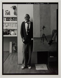 david hockney, london by arnold newman