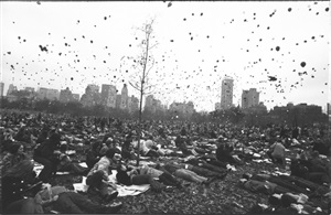 peace demonstration, central park, nyc by garry winogrand