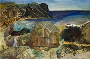 harbor at cape breton by marguerite thompson zorach