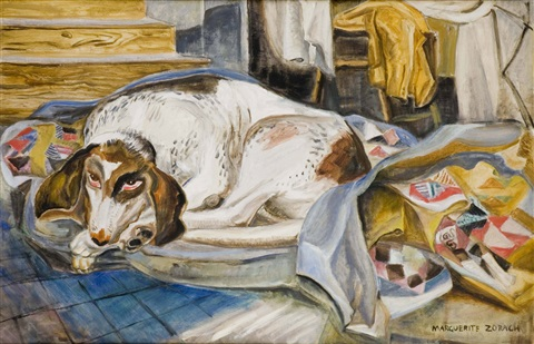 old hound dog by marguerite thompson zorach