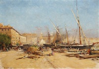 port de marseille by eugène galien-laloue