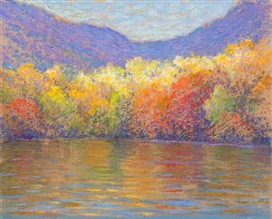 fall foliage at water's edge ... by william partridge burpee