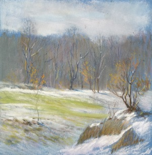 winter rocky landscape by william partridge burpee