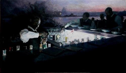 sundown at river bar by paul oxborough
