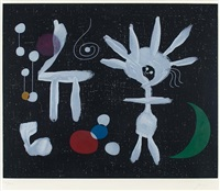 la pluie matinale au clair de lune (morning rain in moonlight) by joan miró