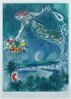 sirène et poisson (sirene & fish), from nice & the côte d'azur by marc chagall